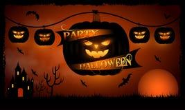 Happy Halloween Pumpkin background dark Stock Photos