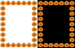 Halloween Pumpkin Border Frame Stock Photography