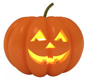 Happy Halloween Pumpkin, with clipping path. Happy Halloween Pumpkin, Jack O Lantern, with clipping path, 3d illustration Stock Photos