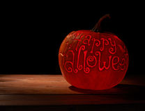 Happy Halloween pumpkin composition Royalty Free Stock Photo