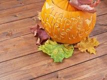 Happy Halloween pumpkin composition Stock Photography