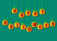 Happy Halloween by pumpkin font Royalty Free Stock Photography