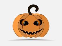 Happy Halloween. Pumpkin isolated on white background. Jack o lantern icon. Vector royalty free illustration