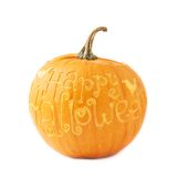 Happy Halloween pumpkin isolated Stock Photo