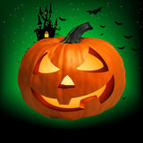 Happy Halloween Pumpkin, Jack O Lantern. EPS 8 Stock Photo