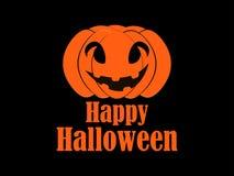 Happy Halloween pumpkin. Jack o lantern icon. Vector Royalty Free Stock Image