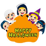 Happy Halloween Pumpkin Kids Royalty Free Stock Photography