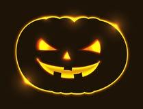 Happy Halloween Pumpkin Mask Design. Vector Illustration Royalty Free Stock Photo