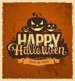 Happy Halloween pumpkin message design Royalty Free Stock Photo