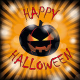 Happy Halloween Pumpkin Rays Stock Photography