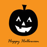 Happy Halloween Pumpkin. Smiling laughing Royalty Free Stock Image