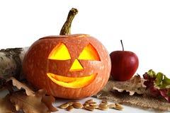Happy Halloween pumpkin. On white background Royalty Free Stock Photos