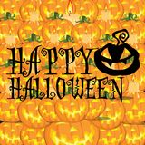 Happy halloween and pumpkins background Royalty Free Stock Photography