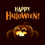 Happy Halloween!. Happy Halloween. Halloween pumpkins lantern Royalty Free Stock Photography