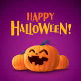 Happy Halloween!. Happy Halloween. Halloween pumpkins lantern Royalty Free Stock Photos