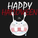 Happy Halloween rabbit Stock Image