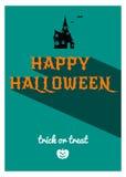 Happy Halloween retro poster Stock Photos