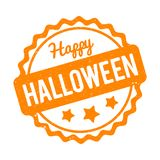 Happy Halloween rubber stamp orange on a white background. royalty free stock photos