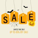 Happy Halloween Text Banner, Vector royalty free illustration