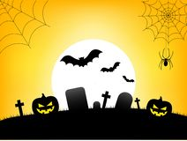 Happy Halloween Text Banner, Vector royalty free illustration