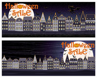 Happy Halloween sale shopping banners Royalty Free Stock Image