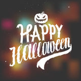 Happy halloween scary calligraphy. Blurred background. illustation Stock Photography
