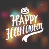 Happy halloween scary calligraphy. Stock Photography