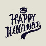 Happy halloween scary calligraphy. Pumpkin Royalty Free Stock Image
