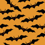 Happy halloween  seamless  bat pattern Stock Images