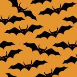 Happy halloween  seamless  bat pattern Stock Images