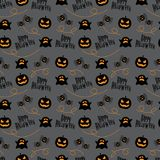 Seamless Pattern Happy Halloween. Happy Halloween with Seamless Pattern Royalty Free Stock Photography