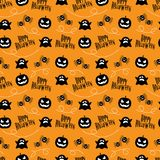 Seamless Pattern Happy Halloween. Happy Halloween with Seamless Pattern Stock Images