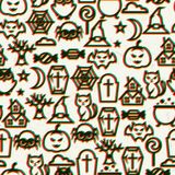 Happy halloween seamless pattern  with effect Stock Photo