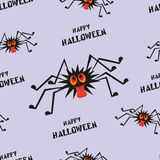 Happy Halloween seamless pattern. Halloween  seamless pattern with the image of the perky spider Royalty Free Stock Photo