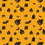Happy Halloween seamless pattern. Royalty Free Stock Photo