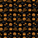 Seamless Pattern Happy Halloween. Happy Halloween with Seamless Pattern Royalty Free Stock Photos