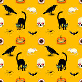 Happy Halloween seamless pattern Stock Images