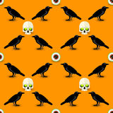 Happy Halloween seamless pattern Royalty Free Stock Photo