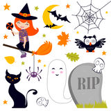 Happy Halloween set Stock Image