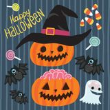 Happy Halloween Set. Stock Photos