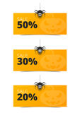 Happy Halloween set banner for sale Royalty Free Stock Photography