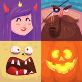 Happy halloween. Set of  Halloween characters Royalty Free Stock Photo