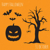 Happy Halloween set. Royalty Free Stock Image