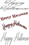 Happy Halloween sign collage Stock Photos