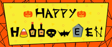 Happy Halloween Sign Stock Photography
