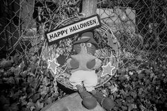 A Happy Halloween sign for the holiday Stock Photography