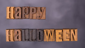 Happy Halloween Sign. Happy halloween lettering on a dark background stock images