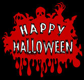 Happy Halloween. Sign with a red and black background Stock Photo