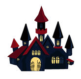 Happy Halloween sinister house vampire haven. Stock Photography