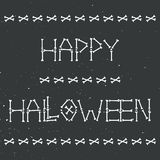 Happy halloween skeleton greeting card Stock Images